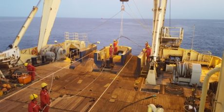 Asn Lodbrog Vessel Preparing For Inpex Jointing Operation